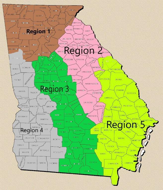 Office of Public Safety Support Regional Map